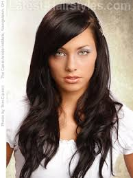 long hair styles with swoop bangs black hair 22 easy hairstyles for long hair fast looks for 2018