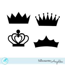 free silhouette images crown free silhouette studio cut file silhouette pinterest