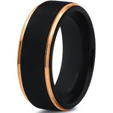 black gold mens wedding band men s wedding bands ring size 13 5 sears