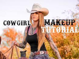 Cowgirl Halloween Makeup Cowgirl Makeup Tutorial Youtube