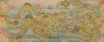 Map Of Nepal And Tibet by Monumental Lhasa Rubin Museum Of Art