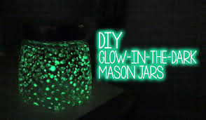glow in the diy glow in the glass jar