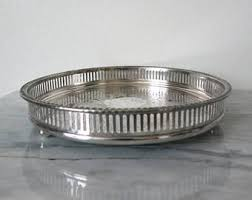 Silver Tray For Ottoman Vintage Coffee Table Tray Etsy