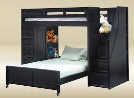 Bunk Beds Black Magnificent Contemporary Black Bunk Beds With Stairs