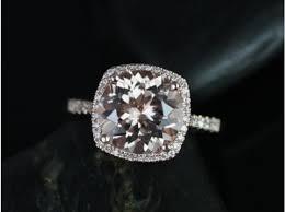 cushion halo engagement rings rosados box samina 10mm gold morganite and diamonds
