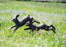running rabbits metal garden ornament garden ornaments metal
