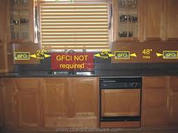 ideas beautiful kitchen counter outlets kitchen gfci receptacle