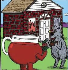 Koolaid Meme - the wolf finds a kool aid to get into the pig s brick house