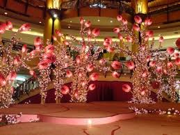 new year decoration sunway pyramid with accessories and
