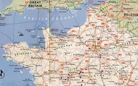 D Day Map On The Trail Of Monet And The Impressionists In Northern France