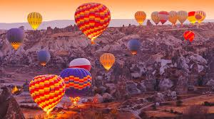 cappadocia turkey is all honeycombed hills and air balloons