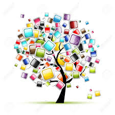 web buttons glossy on tree for your design royalty free cliparts