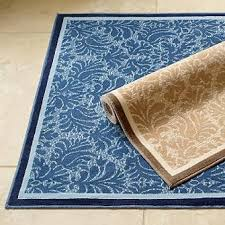 Damask Bath Rug Low Profile Damask Bath Rug Blue Frontgate Blue