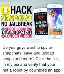 Jailbreak Meme - a hack snapchat no jailbreak any ios version spoof location save