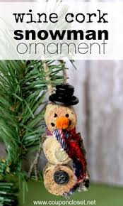 christmas crafts wine cork tree ornament maybe do it with the