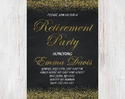 retirement invitations retirement invites etsy