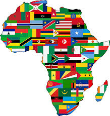 World Map Country Flags Africa Flags By Firkin African Outline Filled With The Flags Of