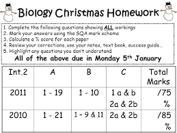 biology christmas homework all 1 complete the following questions