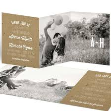 wedding invitations with photos photo wedding invitations custom designs from pear tree