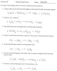 balancing chemical word equations worksheet answer key tessshebaylo