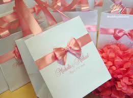 personalized wedding welcome bags 100 personalized wedding welcome bags with blush satin ribbon