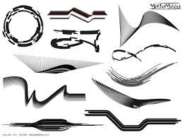 line design elements vector set 6 free vector