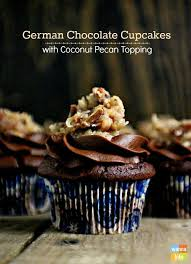 german chocolate cupcakes u0026 coconut pecan icing recipe german