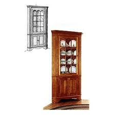 Woodworking Corner Shelf Plans by Woodworking Project Paper Plan To Build Colonial Corner Cabinet