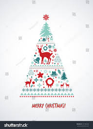 vintage christmas tree vintage christmas elements christmas tree stock vector 337746458