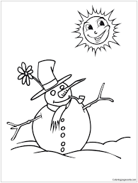 christmas snowman 2 coloring page free coloring pages online