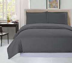 amazon com 3 piece duvet cover set queen gray duvet cover plus