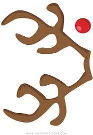 printable printable reindeer template