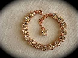 crystal bridal bracelet images Rose gold crystal bridal bracelet bridesmaid tennis bracelet JPG