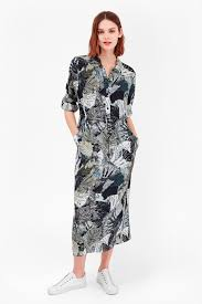 lala palm maxi shirt dress collections french connection