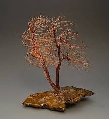 windswept weeping willow copper wire tree sculpture 2258