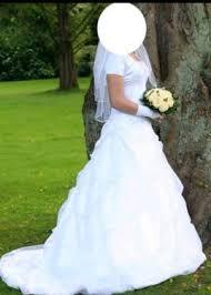 brautkleider minden hochzeitskleid brautkleid s m kleid weiß schleppe schnürung in