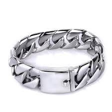 mens bracelet titanium images Pure titanium jewelry men fashion curb link chain bracelets high jpg