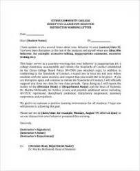 student disciplinary warning letter credit card rewards no