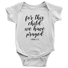for this child we prayed bible verse onesie for