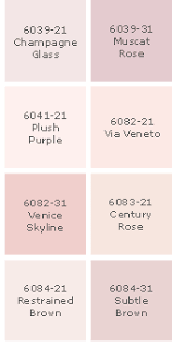 i need samples of this color palette color paint sico blush