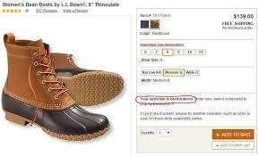 s bean boots size 11 l l bean denies duck boot shortage is a pr nbc