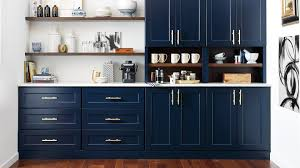 butler u0027s pantry with custom blue cabinets omega