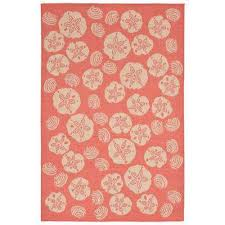Coral Outdoor Rug Trans Ocean Import Co Outdoor Rugs Rugs The Home Depot