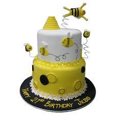 bumblebee cakes birthday cake