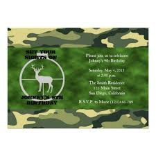 personalized hunting birthday invitations custominvitations4u com