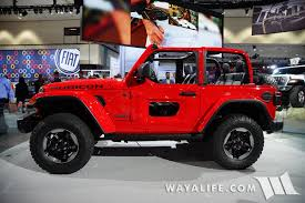 jeep wrangler unlimited half doors 2017 la auto show jeep jl wrangler red rubicon 2 door