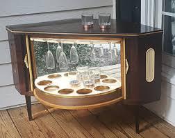 Mid Century Corner Cabinet Vintage Liquor Cabinet Etsy