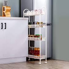 kitchen storage cupboard on wheels singaye 4 tier slim rolling cart kitchen storage organizer mesh wire storage carts with lockable wheels rolling slim cart 4 tier white