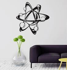 online get cheap science wall decals aliexpress com alibaba group new wall decal atom science school physics education vinyl stickers free shipping china