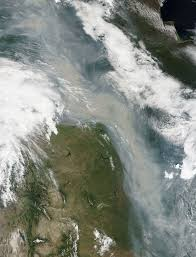 Wildfire Haze Map by Canadian Wildfires Produce River Of Smoke Image Of The Day